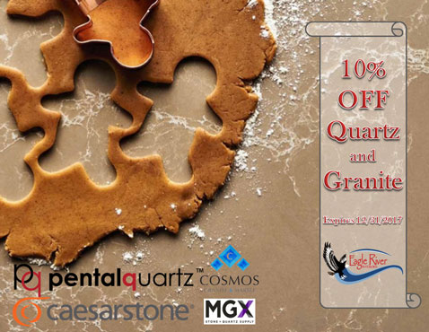 10% OFF all Quartz and Granite Sale for December 2017.